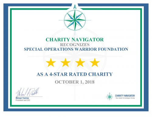 4 Star Rating from Charity Navigator for 13th Year in a Row