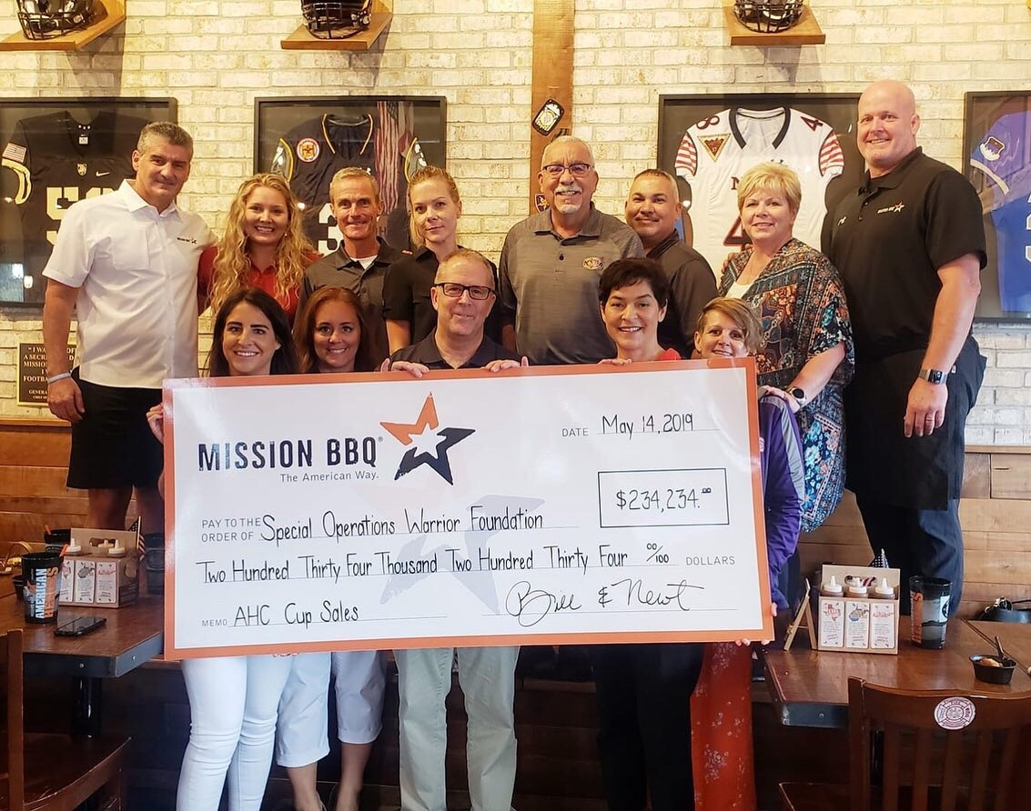MISSION BBQ donates $234,234 to Special Operations Warrior Foundation