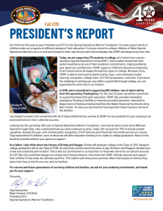 Cover of President's Report