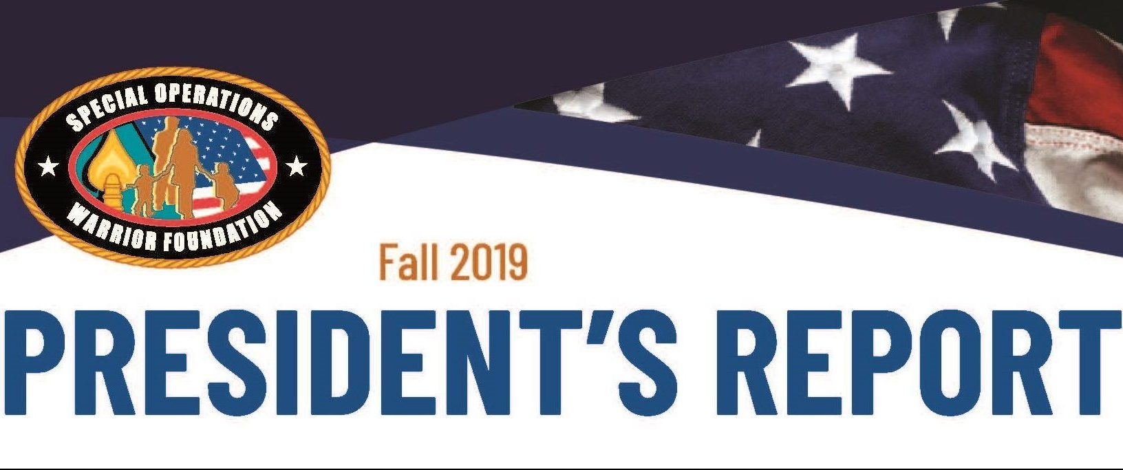 2019 Fall President's Report from Clay Hutmacher Major General (USA, Ret.)